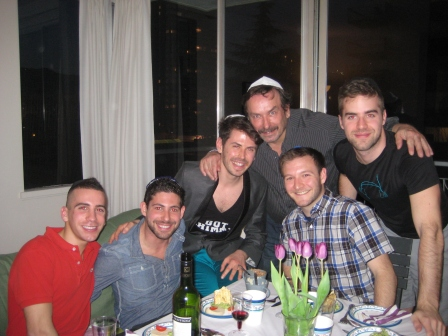 The boys of the evening! (l-r) Steven, Lars, Jeremie, Charlie, Alex and Josh.
